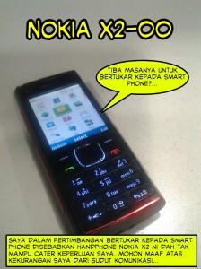nokia X2-00 smart phone