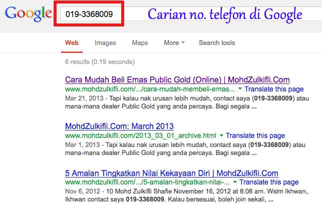 carian no telefon dealer emas public gold di google