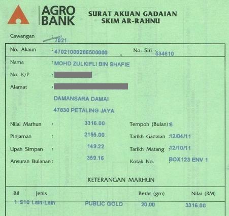 surat pajak ar rahnu agrobank