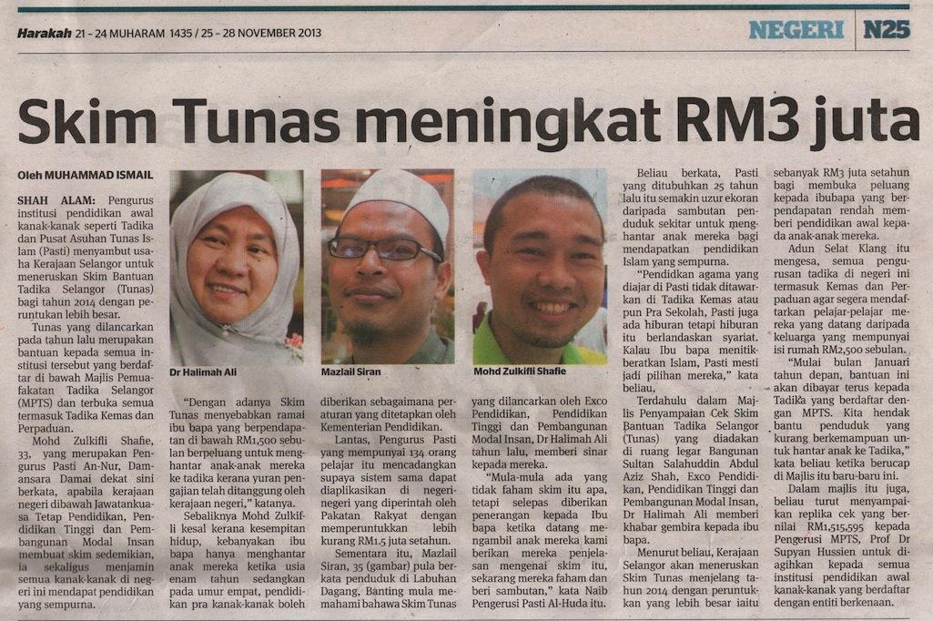 Skim Bantuan Tunas Selangor - Harakah