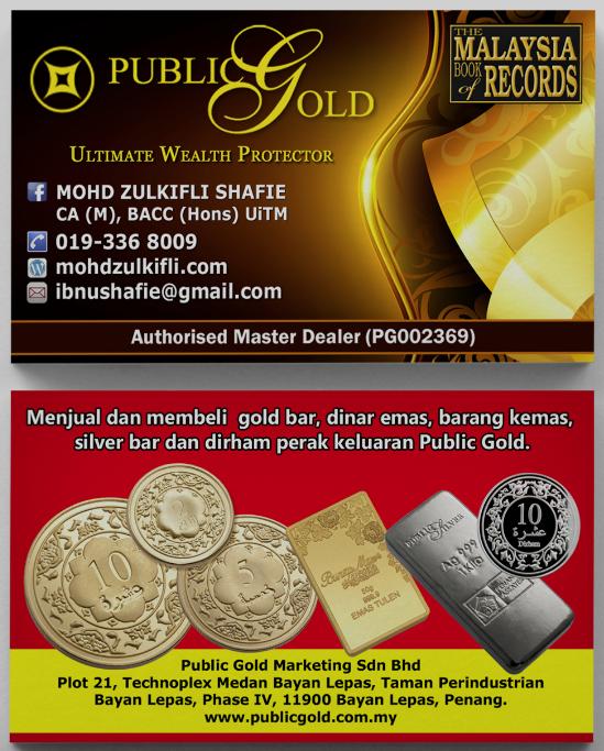 biz card dealer public gold - zulkifli