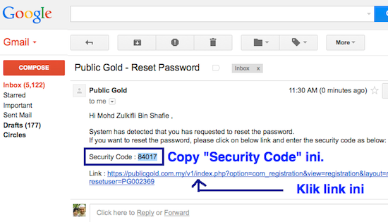 email security code web public gold