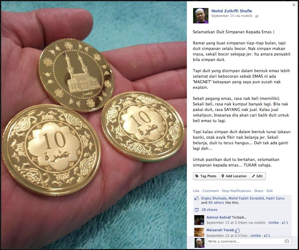 simpan emas elak duit bocor