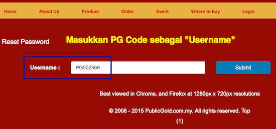 web public gold email berdaftar