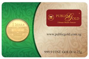 1 dinar lbma public gold