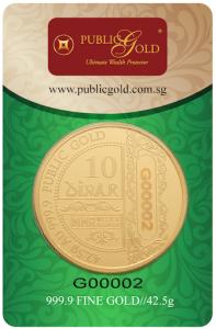 10 dinar lbma public gold