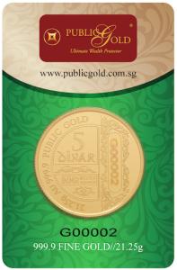 5 dinar lbma public gold