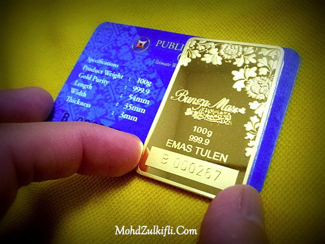 bunga mas public gold 100 gram
