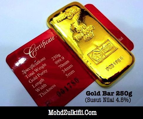 gold bar aka jongkong emas 250 gram Public Gold