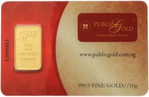 gold bar LBMA 10 gram