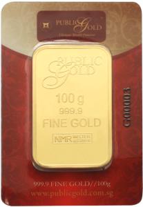 gold bar LBMA 100 gram
