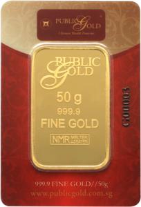 gold bar LBMA 50 gram