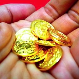 1 dinar emas public gold in hand