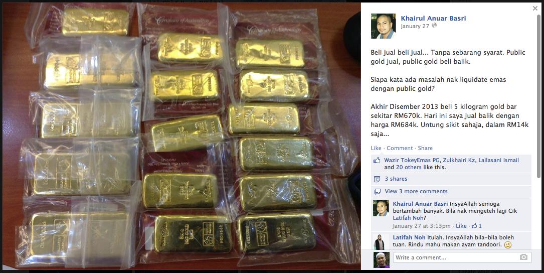 jualan balik emas Public Gold secara besar-besaran