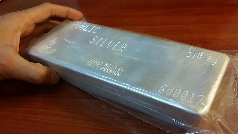 jongkong perak silver bar 5 kilogram public gold lbma