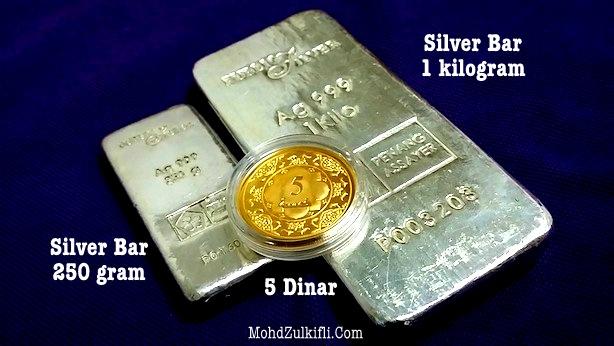 silver bar public gold 5 dinar
