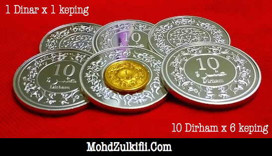 10 dirham 1 dinar emas public gold