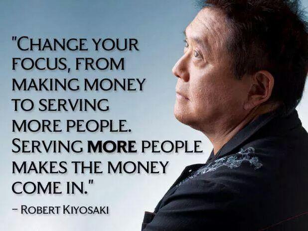 kiyosaki fokus membantu manusia