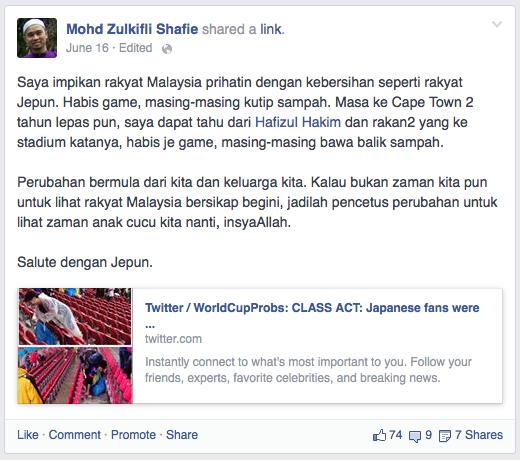 facebook nasihat kebersihan