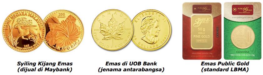 emas bebas gst di malaysia