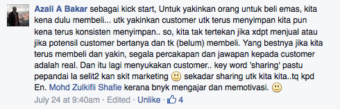 fb kerja marketing kena ikhlas
