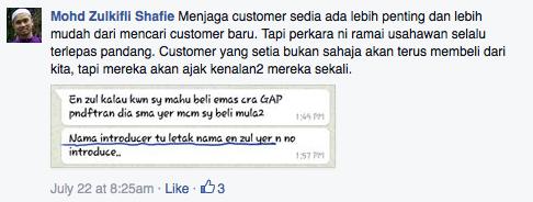 fb keutamaan menjaga existing customer