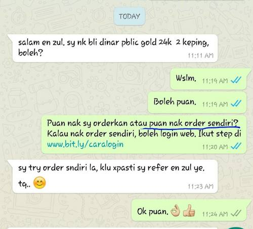 wassap customer berdikari
