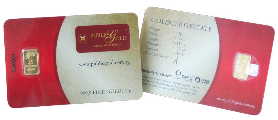 gold bar 1 gram public gold lbma