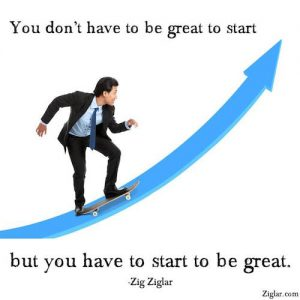 start to be great zig ziglar