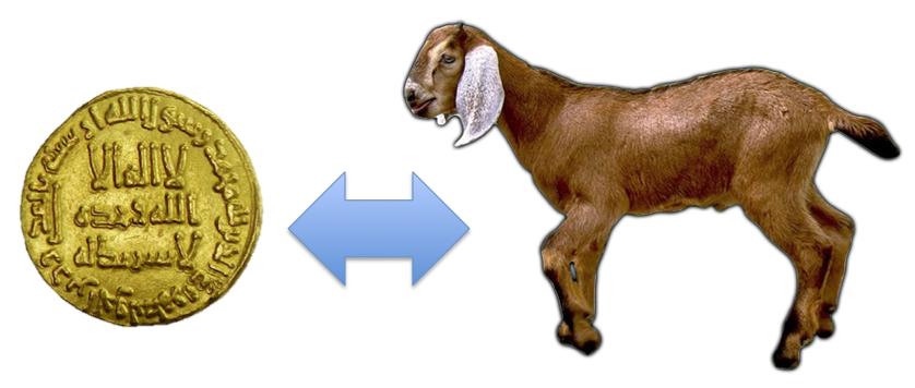 1 dinar 1 ekor kambing