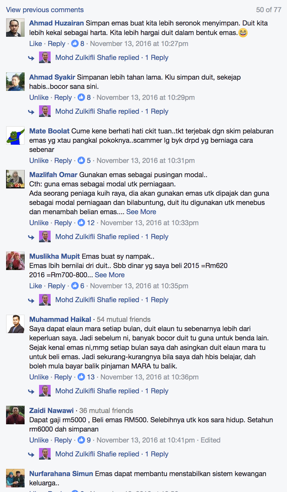 FB Screen Shot testimoni penyimpan emas
