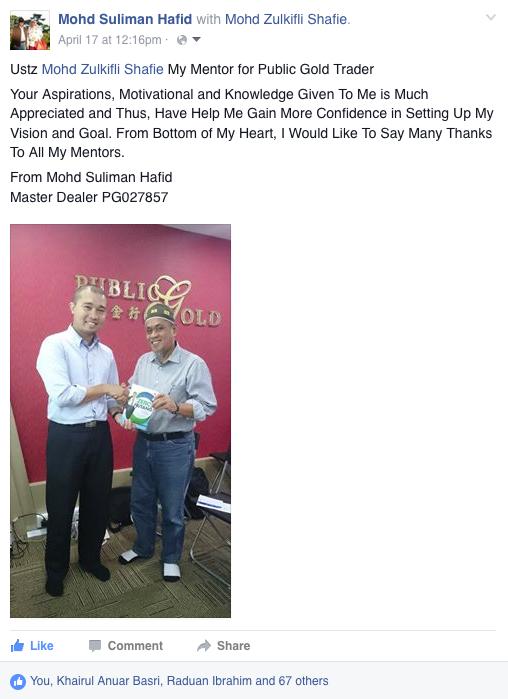 Hj Suliman public gold singapore onegolddinar