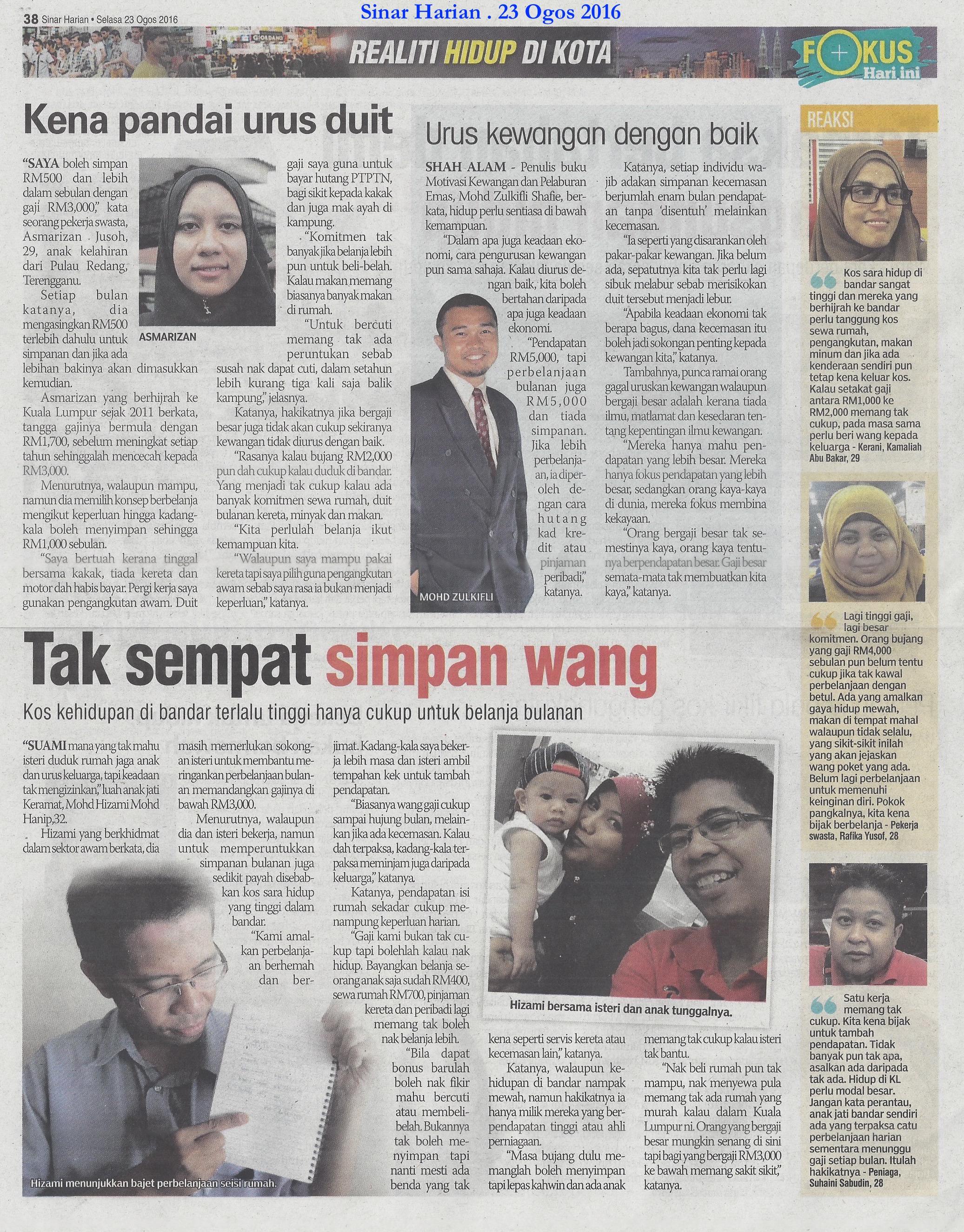Sinar Harian 20160823 Mohd Zulkifli Shafie interview