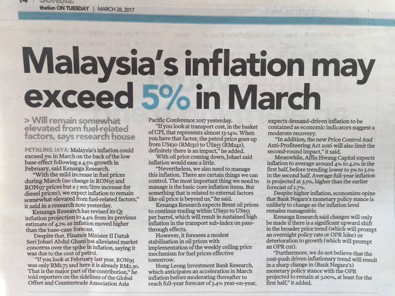 news malaysia inflation inflasi 2017