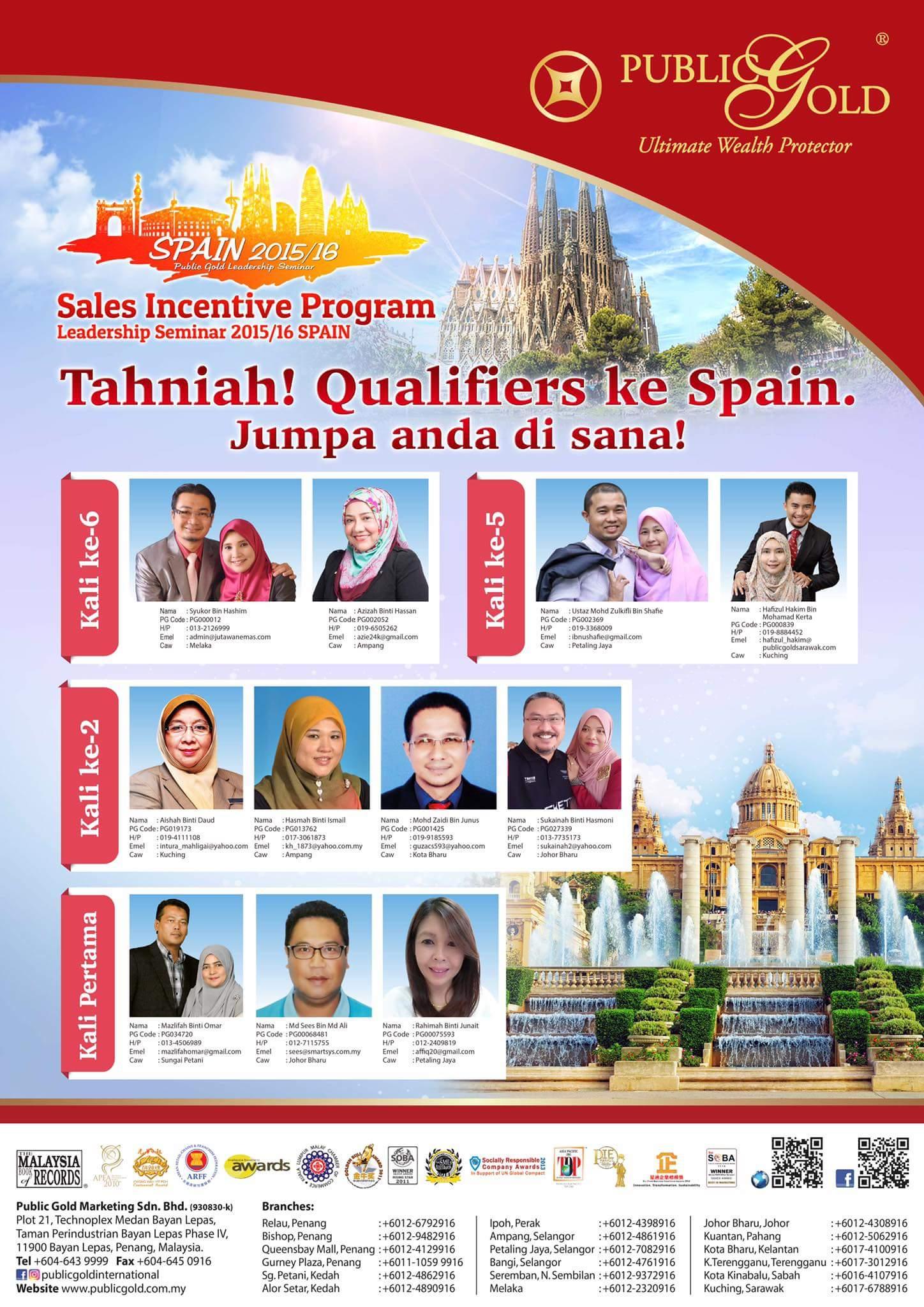 public gold sip leadership seminar spain