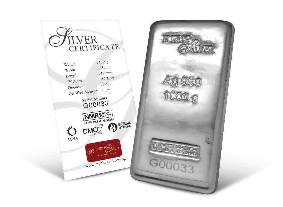 public gold pelaburan silver bar 1 kilogram