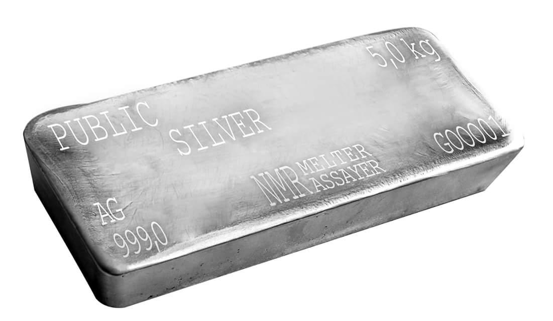 public gold pelaburan silver bar 5 kilogram