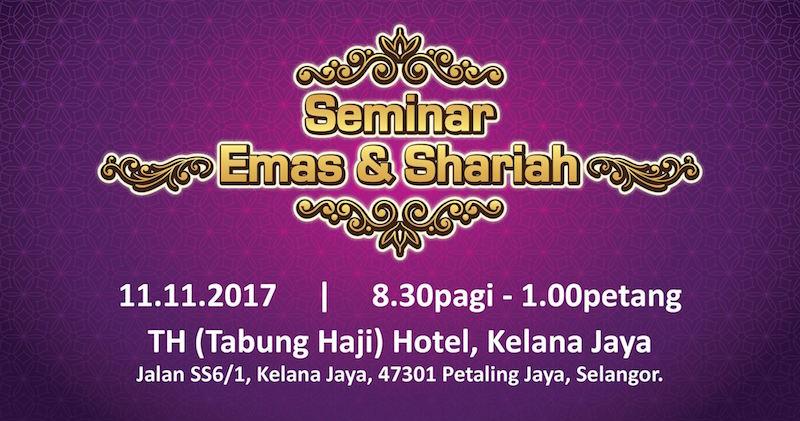 seminar emas dan shariah public gold 2017