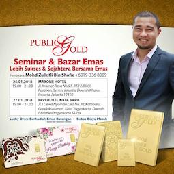 Post image for Seminar Emas Public Gold Indonesia, Januari 2018 (Jakarta & Jogja)