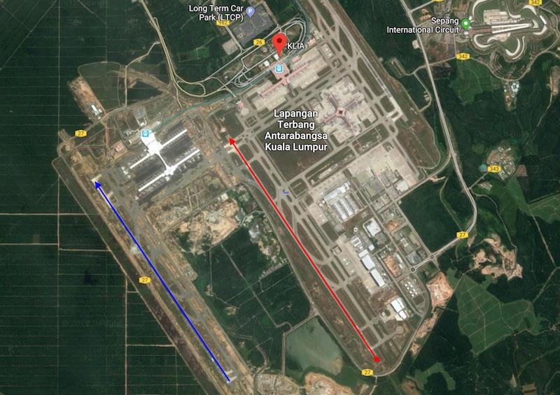 KLIA1 KLIA2 runways