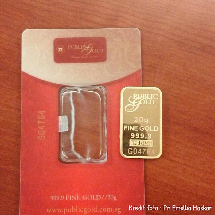 Gadai gold bar public gold 20gram LBMA